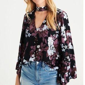 American Eagle bell sleeve blouse